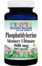 9043 Buy 1 Get 2 Free Phosphatidylserine 500mg 100caps or (200caps Scroll Down)