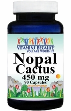 9166 Buy 1 Get 2 Free Nopal Cactus 450mg 90caps or (180caps Scroll Down)