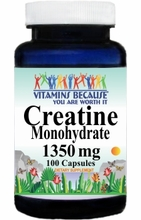 9869 Buy 1 Get 2 Free Creatine Monohydrate 1350mg 100caps or (200caps Scroll Down)