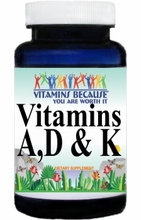 Vitamins A, D and K