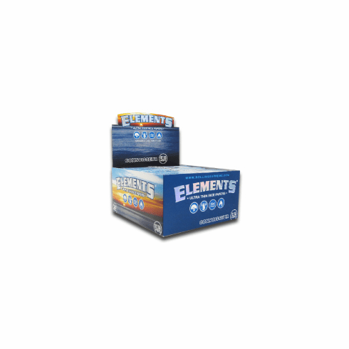 Elements Rice Rolling Papers Connosseur Box of 25