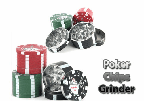 Poker Chips Tobacco Grinder