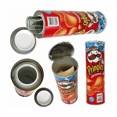 Pringles Safe Can Lot of 10 Mix colors