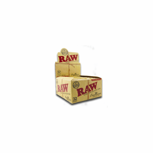 Raw Organic Rolling Papers Connosseur Box of 24