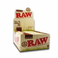 Raw Organic Rolling Papers King Size Box of 24