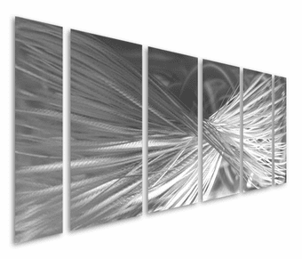 Altered Ego Abstract Handmade Six-Panel Aluminum Wall Art