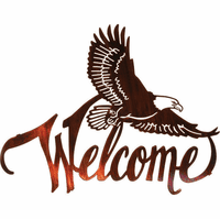 American Bald Eagle Welcome Metal Wall Art