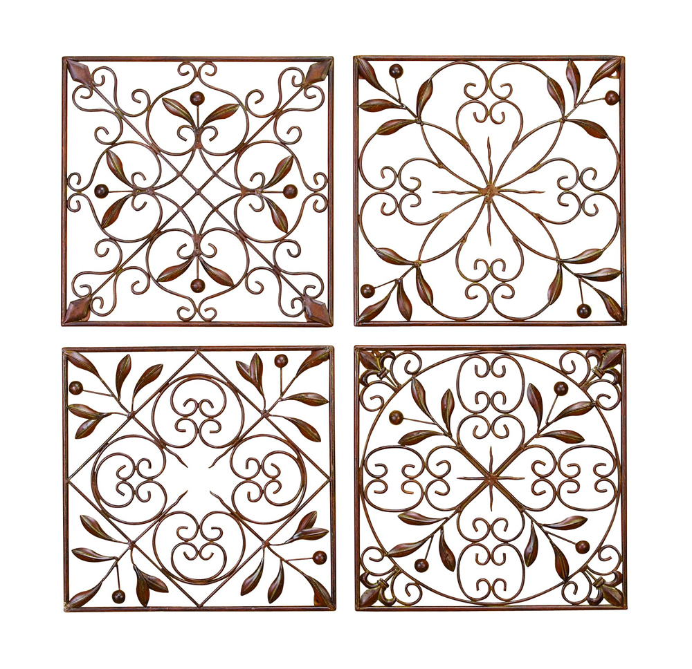 Scroll Wrought Iron Wall Grilles Set Of 4 Zoom Click To Enlarge