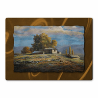 Autumn Mountaintop Home Metal Art