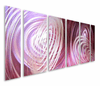 Berry Pickin' Abstract Six-Panel Metal Wall Hanging