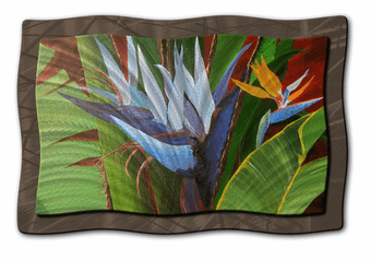 Bird of Paradise Tropical Floral Art