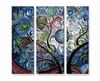 Blue Spiral Sky Tree Wall Art
