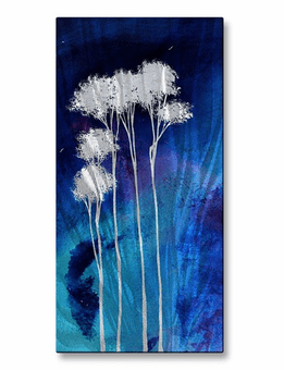 Brilliant Blue Tree Wall Art