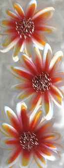 Brilliant Dahlias Hand Painted Metal Wall Art Panel