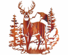 Buck on the Mountain Metal Wall Hanging