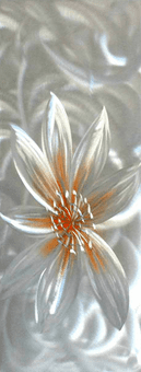 Burnished Dahlia Hand Painted Aluminum Wall Art Panel