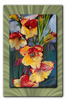 Cascading Iris Flower Wall Art