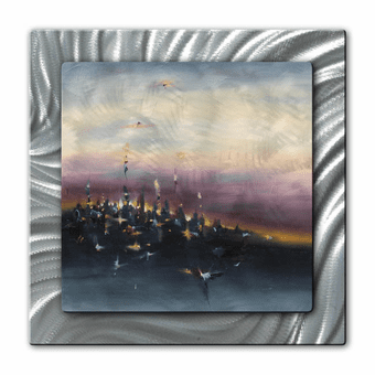City on the Hill Abstract Art