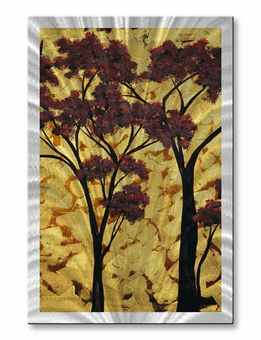 Clouds of Gold Tree Art