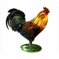 Cocky Rooster Wall Art Sculpture