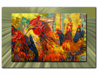 Coming to Roost Animal Art