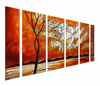Cotton Clouds and Orange Sky Set of 6
