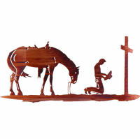 Cowboy's Remembrance Metal Wall Sculpture