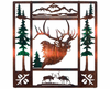 Deer of the Forest Metal Wall Hanging