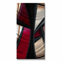 Edged in Black Abstract Vertical Wall Panel