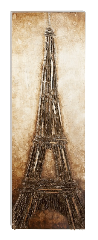 Eiffel Tower In Wood Wall Panel Zoom Click Image To Enlarge