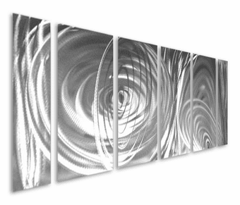 Elevated by Silver Six-Piece Handcrafted Aluminum Wall Art