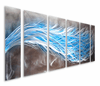 Eluded by Optics Handcrafted Six-Piece Aluminum Wall Art