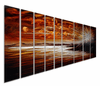 Evening Tide Metal Wall Panels Set of 9