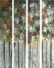 Excitation in the Leaves Four-Piece Aluminum Wall Art