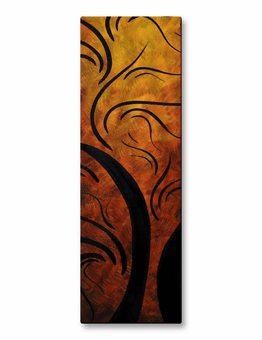 Expressive Amber Waves Abstract Art