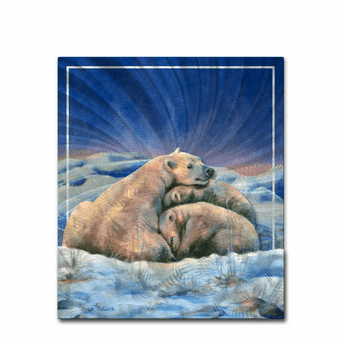 Family of Polar Bears Nature Artwork