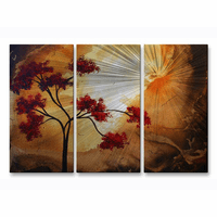 Forest Sunset Metal Wall Art Set of 3