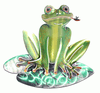 Frog on Lily Pad Metal Wall Art Sculpture
