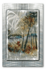 From the Forest's Edge Abstract Metal Wall Hanging