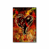 Gambler's Heart Abstract Metal Art