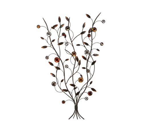 Gathered Stems Contemporary Metal Art