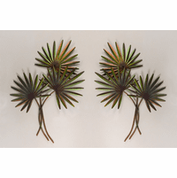 Graceful Fan Palms Metal Wall Art - Set of 2