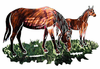 Grazing Horses Metal Wall Art Hanging