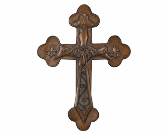 Gregorian Wall Cross Metal Hanging
