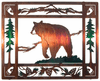 Grizzly Bear Lodge Collage Metal Wall Art