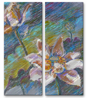 Height of Summer Flower Wall Panels