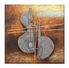 Hello Cello 3D Hand-Painted Metal Wall Sculpture