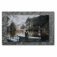 Her Own Reflection Metal Wall Art