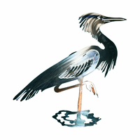 Heron Metal Wall Sculpture