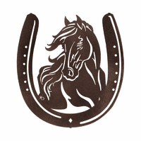 Horse and Horseshoe Metal Wall Hanging